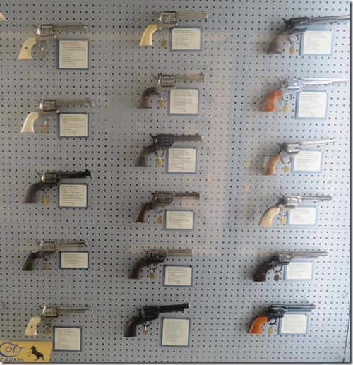 Colt handgun display
