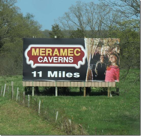 Meramec Caverns sign best