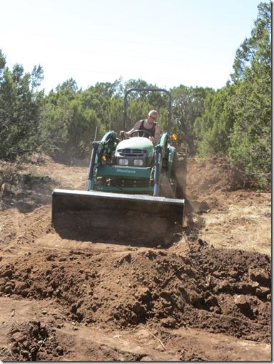 Scott on tractor