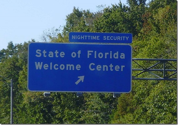 Florida Welcome Center sign