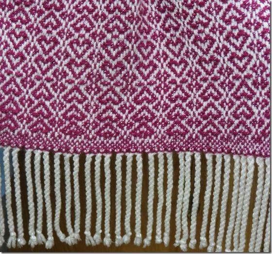 Heart shawl pattern