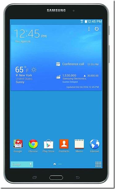Samsung Tab screen