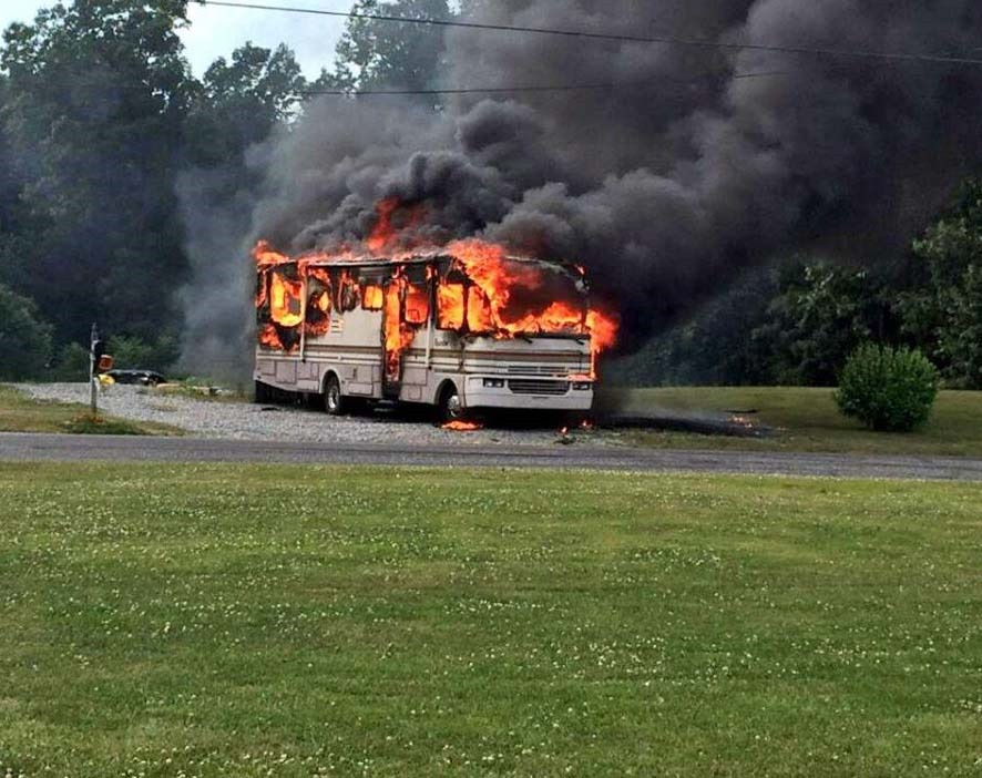 Simple RV Camper Fire Shuts Down Portion Of US 1 In Edgewater  Headline