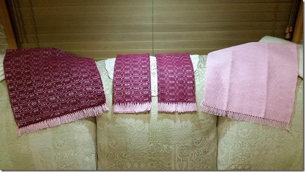 Towel set open