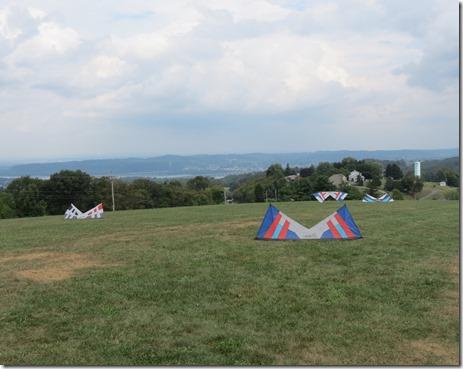 Kites on ground