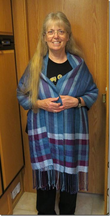 Terry blue shawl
