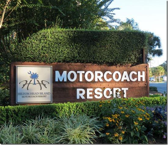 Hilton Head Resort sign