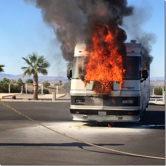 Motorhome fire Kingman Jim Hamm
