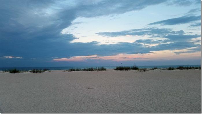 St Augustine beach clouds
