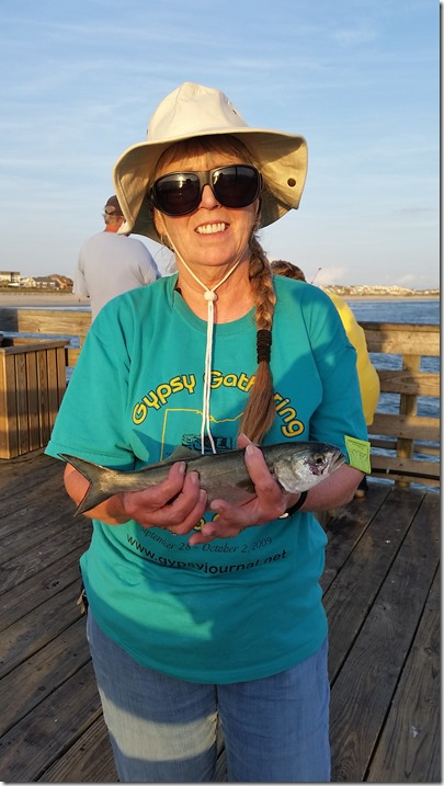 Terry with bluefish
