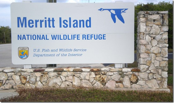 Merritt Island Wildlife Refuge sign