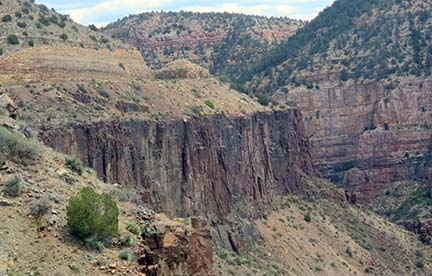 Canyon rock face