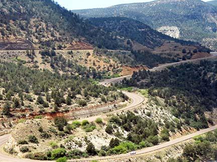 Winding Canyon road