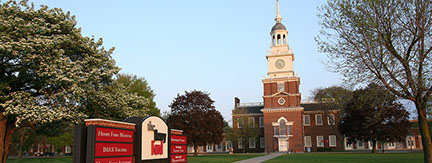 Henry Ford Museum Clocktower and Campus sign (1)
