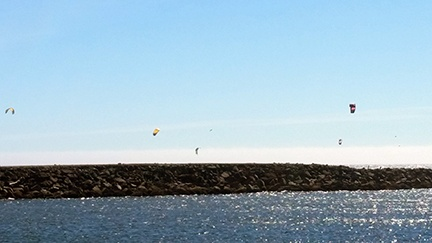 Kites on jetty small