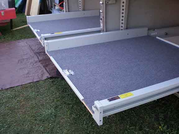 Slideout trays extended