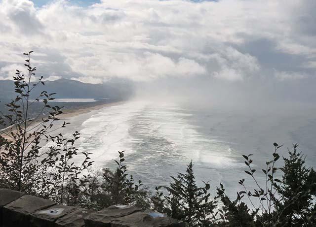 Cloudy coast