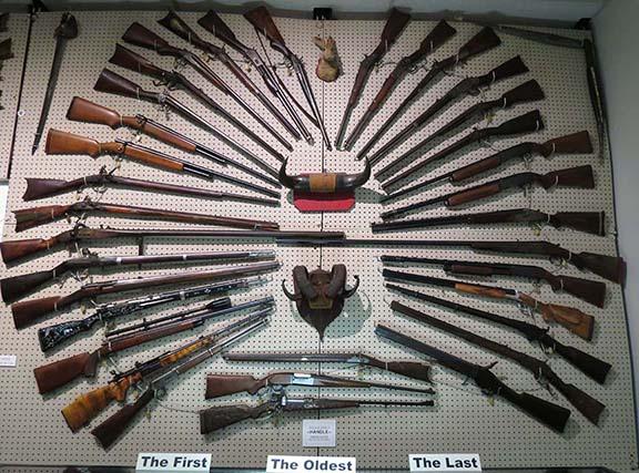 Gun wall display 2 small