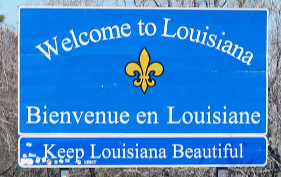 Louisiana welcome sign small