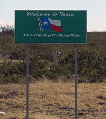 Welcome to Texas sign small