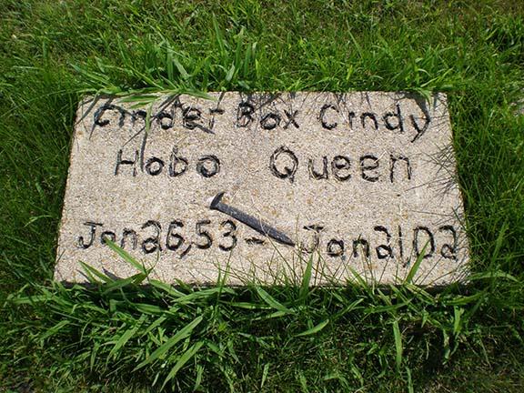 Cinder Box Cindy grave
