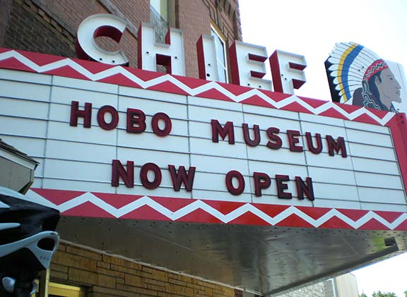 Hobo Museum marquee
