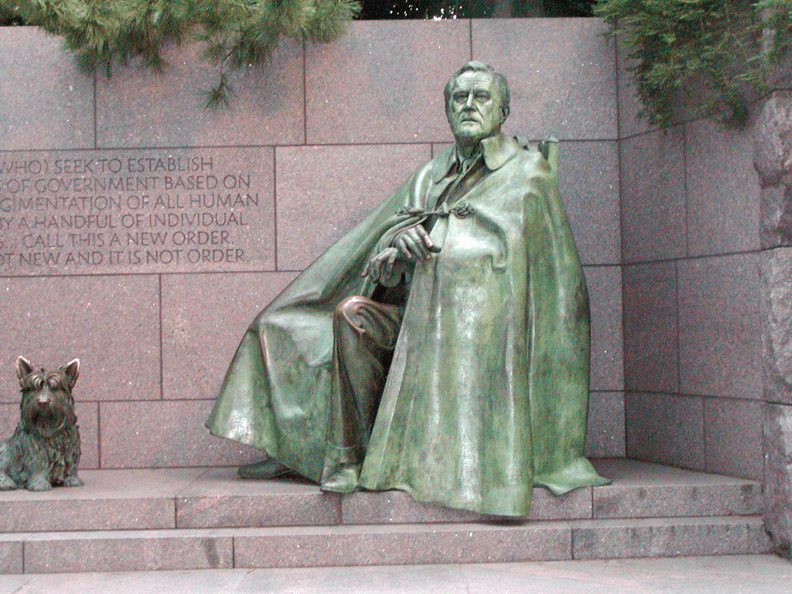 FDR Memorial Roosevelt was president during WWII. His ...  |Fdr Wheelchair Blanket